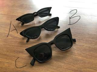 Sunglasses kacamata hitam cat eye baru trend
