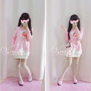 日系軟妹草莓牛奶衛衣