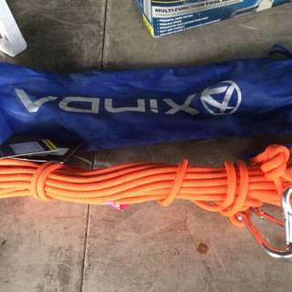 10 Meters Climbing Rope with Carabiner
