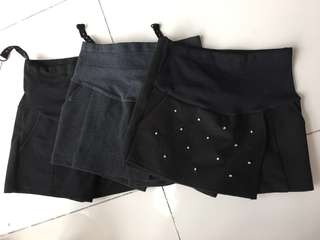 Maternity skirt shorts 3 sets adjustable