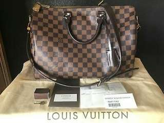 LOUIS VUITTON Damier Ebene Speedy Bandouliere 35 With Proof of Purchase