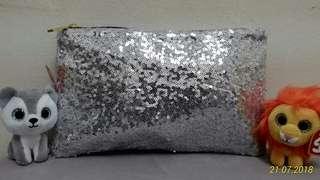 Sequin Clutch - Silver