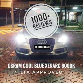 Original Osram xenon HID headlight bulb - 6000K white light for BMW. VW. VOLKSWAGON. AUDI. LEXUS. MERCEDES. VOLVO. HONDA FD2R. MAZDA 3 BN. Philips D1S D2S D3S D4S D1R D2R (A6C7 A6C6 A3 A4 A5 Q3 Q5 FD2R F30 E60)