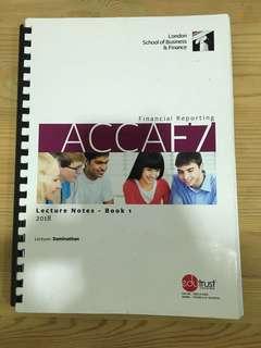 ACCA F7 (Financial Reporting - International) - 2018