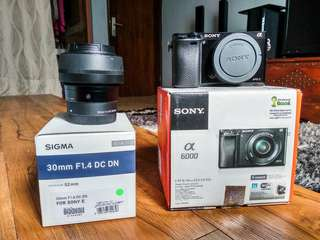 Sony A6000+Sigma 30mm f1.4 Contemporary for sony E-mount