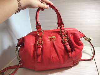 真皮Coach bag -80%new