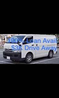 Toyota Hiace Standard Roof 3.0 Manual DX 5-door Van