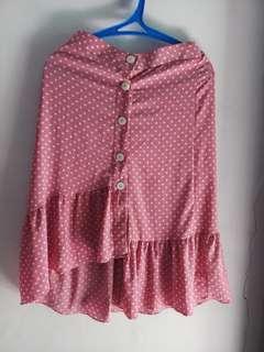Rok A-Simetris / ruffel skirt Zara Look a like