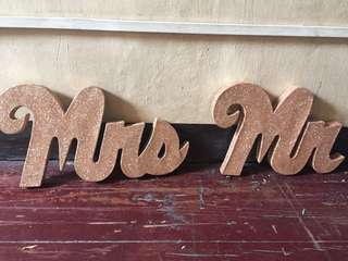 mr and mrs rosegold standee
