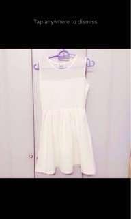 23 white Mesh Dress