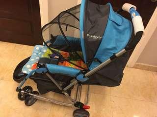 Sweet Heart Paris 2 in 1 stroller & rocker