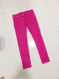 Gorgeous pink skinny jeans