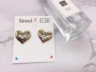 🚚 首爾x印象 不規則愛心金屬耳環