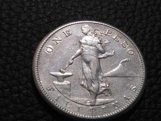 1909 s USPI 1 peso