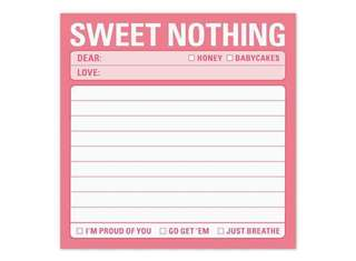 Knock knock Sweet Nothing Appreciation Sticky Notes / Notepad