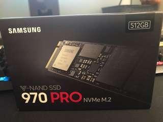 Samsung 970 pro V-NAND M.2 NVMe SSD (512GB)