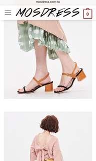 Mosdress 配色涼鞋