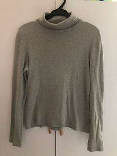 Bossini Gray Turtle neck long sleeves