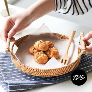 ⚡️[PO] Osik High-Walled Rattan Serving Tray w/ Handle