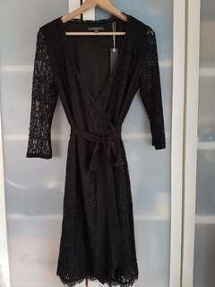 Esprit lace wrap dress size 12