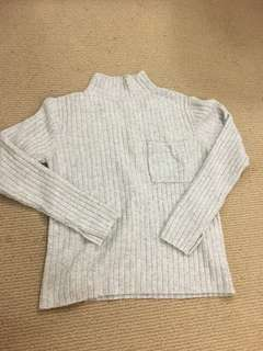 Grey turtle neck knit for sale!