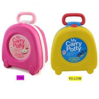 Travel Portable Carry Potty Yellow (Used one time only)