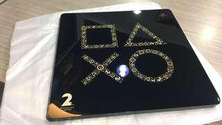 Ps4 slim sony 2nd year anniversary faceplate