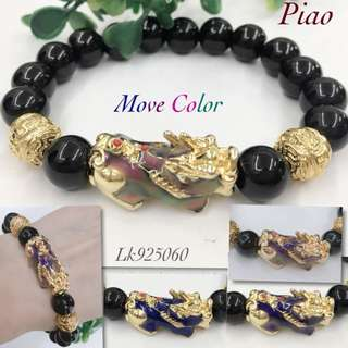 LUCKY CHARM BRACELET PIYAO with BLACK ONYX
