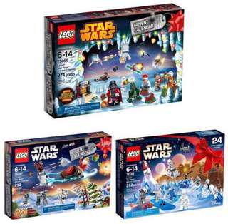 🔥(2Day SALES)🔥 LEGO 75056 / 75097 / 75146 Star Wars Advent Calendar Bundle