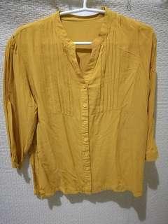 Mustard Cotton Polo