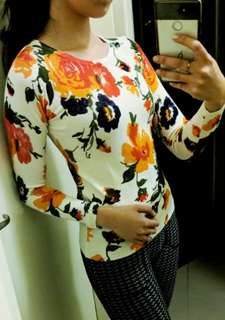 Floral Long Sleeve Knit