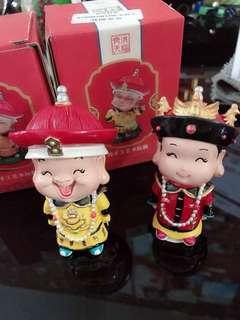 Ching emperor & empress figurines