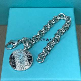 原價$2300 Tiffany & Co Notes Round Tag Bracelet 手鍊