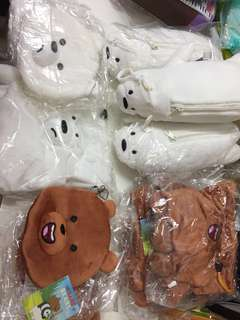 [Instock] [WBB] We bare bear pouches/drawstrings/Make up bag