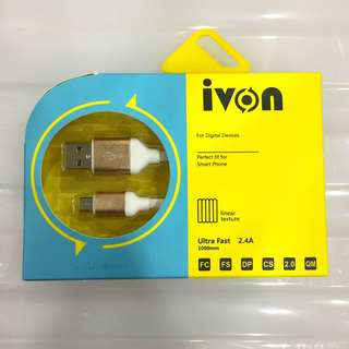 🚚 IVON USB Cable in 3 Colors