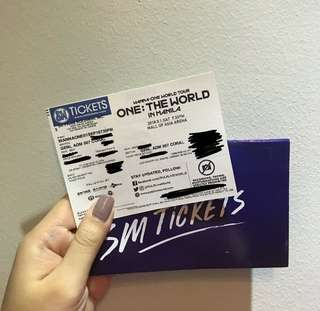 Wanna One Concert Ticket - 1 General Admission - September 1
