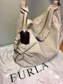 Furla snake leather handbag