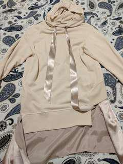 Hoody with satin