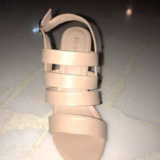 Never used nude sandals