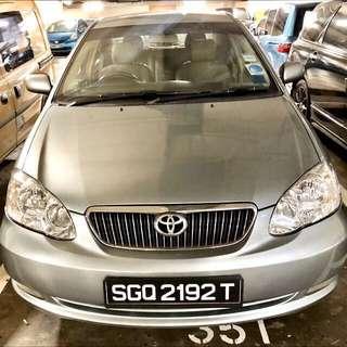 Toyota Altis 1.6A  $290/wk - Car Rental