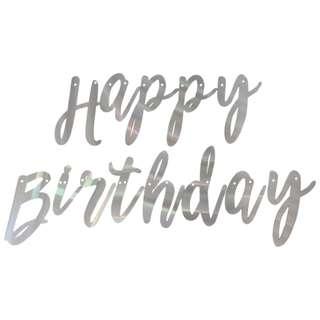Cursive Birthday Buntings/Banner Garland - Shimmering
