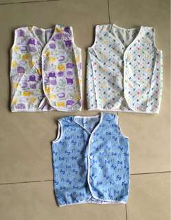Baby shirt set baby vest soft pure cotton baby shirts 3 months ( bundle set of 3)