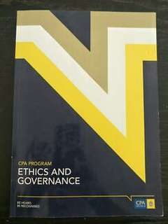 Latest edition (Semester 2 2018) CPA Ethics and Governance Textbook