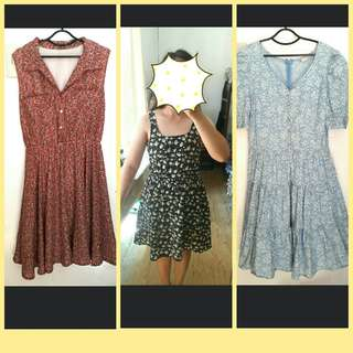 !!SALE!! dresses floral dress midi dress puff dress button down dress