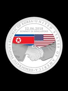 United States - North Korea Summit 2018 Medallion