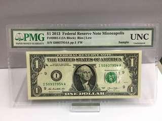 PMG 1美金-Sample