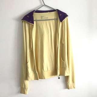 Giordano Pastel Yellow Hoodie