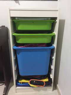 IKEA kids toys Cabinet 6 layers with 3 drawers with lids D30*W46*H94cm collect only Sengkang