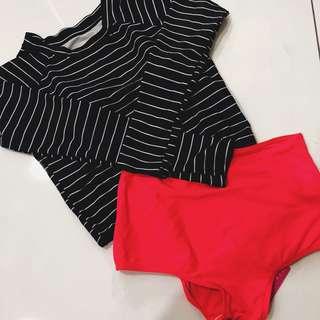 Long Sleeve Swimsuit Set