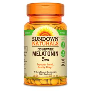 Sundown Naturals Dissolvable Melatonin 5mg, 90 Microlozenges